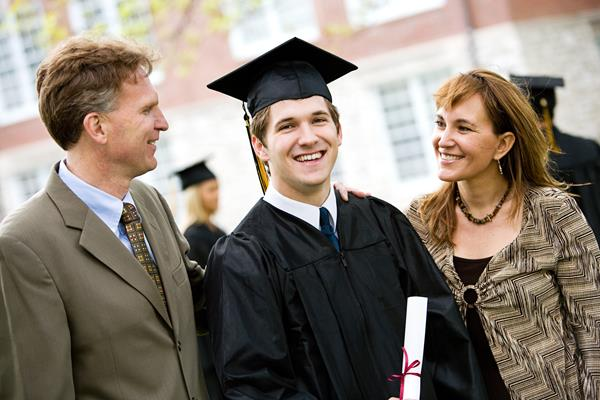 Parents Proud Son Graduating from College
